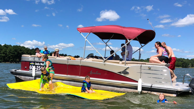 Pontoon Boat Swim Rafts