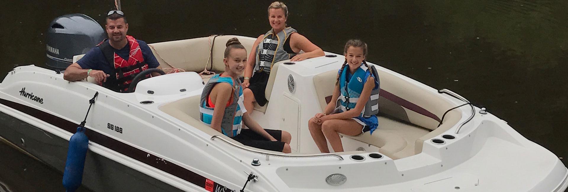 Family Ski Boat